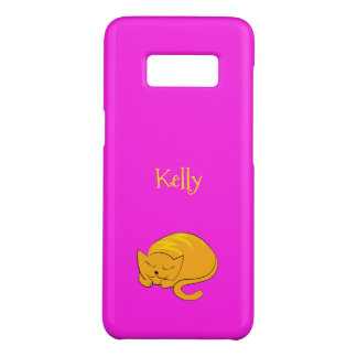 Sleeping Kitty Cat Cartoon Case-Mate Samsung Galaxy S8 Case