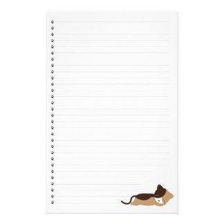 Sleeping  Kitty  Lined Pet Stationery