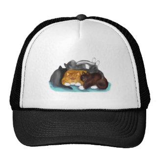 Sleeping Kitty Pile Trucker Hat