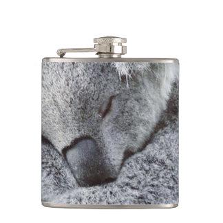 sleeping koala baby hip flask