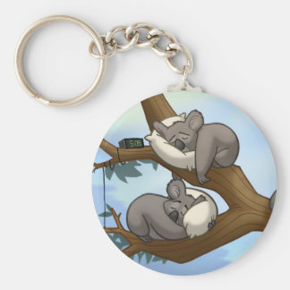 Sleeping Koala Keychain