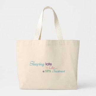 Sleeping Late Jumbo Tote Bag