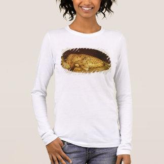 Sleeping Leopard, 1777 (enamel on biscuit Long Sleeve T-Shirt