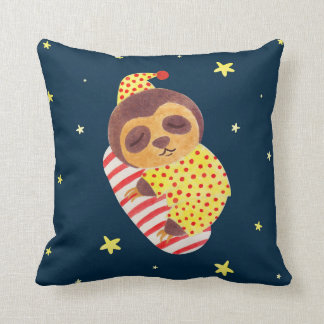 Sleeping Like a Sloth Cushion