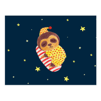 Sleeping Like a Sloth Postcard