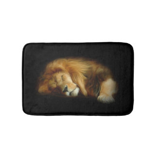 Sleeping Lion Bath Mats