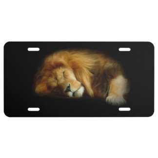 Sleeping Lion License Plate