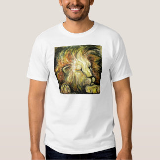 Sleeping Lion Oil Painting T-shirts