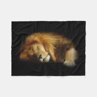 Sleeping Lion Small Fleece Blanket