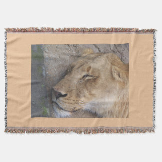sleeping lioness blankie throw blanket