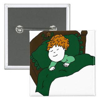Sleeping Little Boy 15 Cm Square Badge