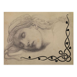 Sleeping Maiden Postcard