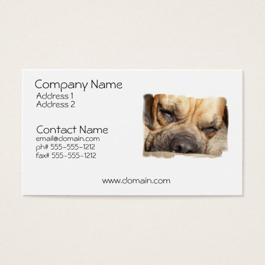 Sleeping Mastiff Dog Business Card