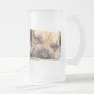 Sleeping Mastiff  Frosted Beer Mug