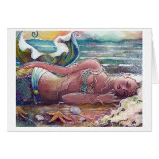 Sleeping Mermaid Card