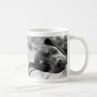 Sleeping Miniature Pinscher dog Mug