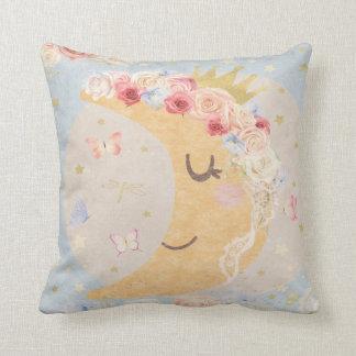 Sleeping Moon Boho Butterfly Baby Nursery Pillow