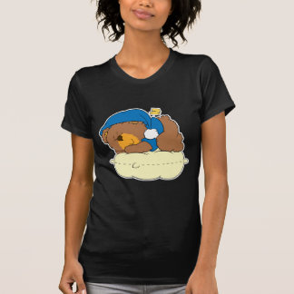 sleeping on pillow cute teddy bear design T-Shirt