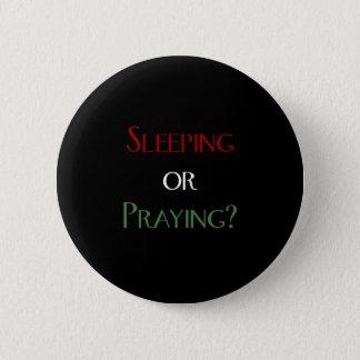 Sleeping or praying - islamic muslim prayer print 6 cm round badge