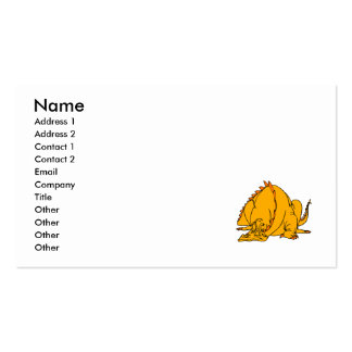 Sleeping Orange Dragon Business Card Template