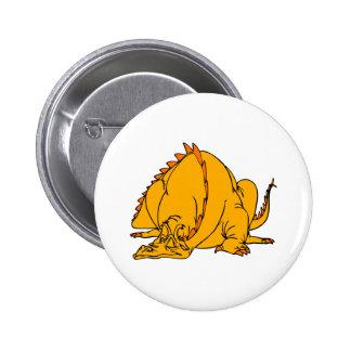 Sleeping Orange Dragon Pins