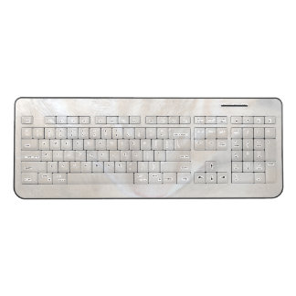 Sleeping orange tabby cat fade wireless keyboard
