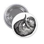 sleeping otter button