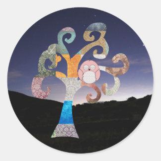 Sleeping Owl Classic Round Sticker