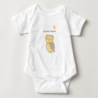Sleeping Owl Sleeper Baby Bodysuit