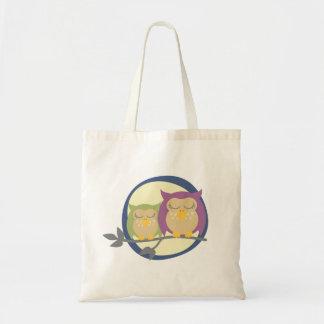 Sleeping Owls Tote Bag