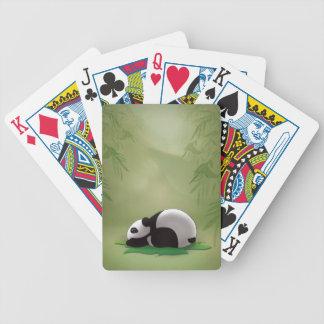 Sleeping Panda Bicycle Playing Cards