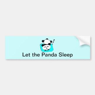 Sleeping Panda Bumper Sticker