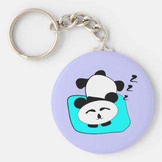 Sleeping Panda Basic Round Button Key Ring