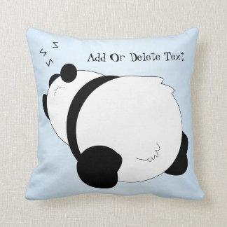 Sleeping Panda Personalized Throw Cushion