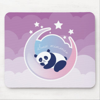 Sleeping Panda purple mousepad