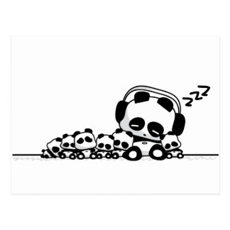Sleeping Pandas Postcard