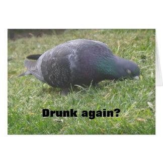 Sleeping Pigeon Funny Custom Birthday Card