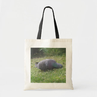 Sleeping Pigeon Tote Bag