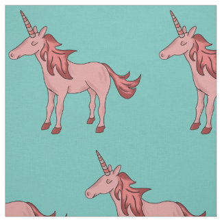 Sleeping Pretty Pink Unicorn Fabric