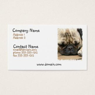 Sleeping Pug Business Card