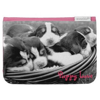 Sleeping Puppies Basket Kindle Cases