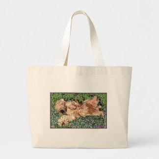Sleeping Puppy Large Tote Bag