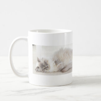 Sleeping Ragdoll Cat mug