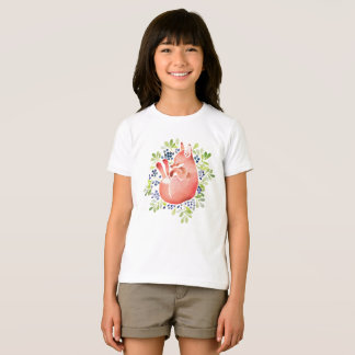 Sleeping Red Fox and Blue Berry T-Shirt