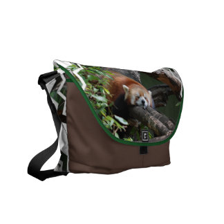Sleeping Red Panda Messenger Bag