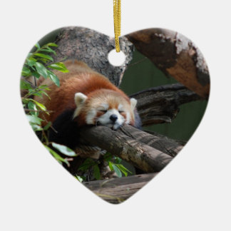 Sleeping Red Panda  Ornament