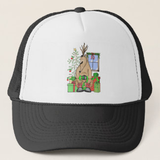 Sleeping Reindeer Trucker Hat