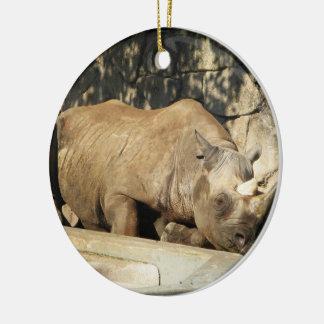 Sleeping Rhino Christmas Ornament