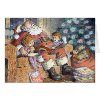 """Sleeping Santa"" Christmas Card"