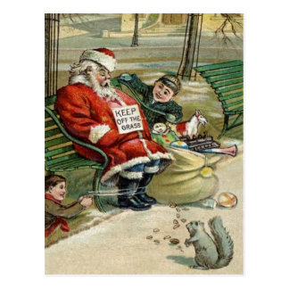 Sleeping Santa Christmas Postcards
